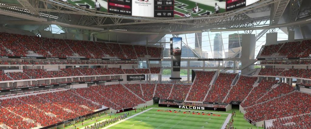 Mercedes benz stadium in atlanta will host two college for Atlanta airport to mercedes benz stadium